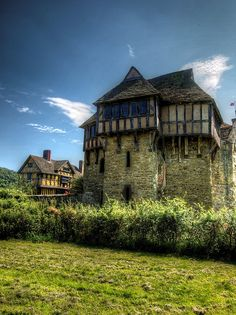 Stokesay Castle, a 13th century fortified manor house in Stokesay, Shropshire, England