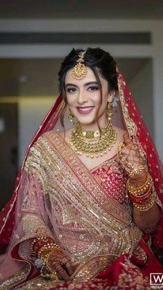 Indian Bridal Photos, Indian Bridal Makeup, Indian Bridal Outfits, Indian Bridal Fashion, Bridal Pictures, Bridal Dresses, Bridal Dress Indian, Bridal Dulhan Makeup, Pakistani Bridal Hair