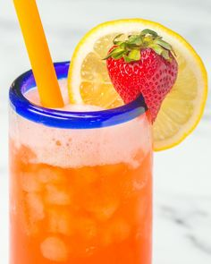 Servings: 6INGREDIENTS½ pound strawberries, halved4 cups sparkling water1 cup lemon juice (about 4 lemons)½ cup honey, or to tastePREPARATION1. Add strawberries, lemon juice and honey to a blender. Blend until smooth.2. Pour strawberry puree and sparkling water into a pitcher and stir. 3. Serve over ice and enjoy!