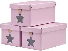 Kids Concept, Kenkälaatikot, 3 kpl, Vaaleanpunainen