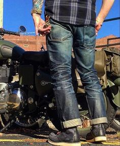 "Reposting @robindenim: ... "" @ottonomous1"" Denim jeans pant selvedge indigo"