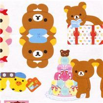 die-cut Rilakkuma bear France Post-it bookmark stickers