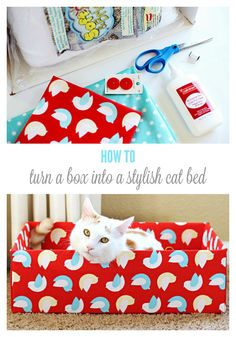 Turn an Ordinary Cardboard Box Into a Stylish DIY Cat Bed #MyCatMyMuse (ad)