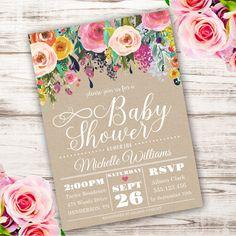 Whimsical Girl Baby Shower Invitation girl baby by StudioPip