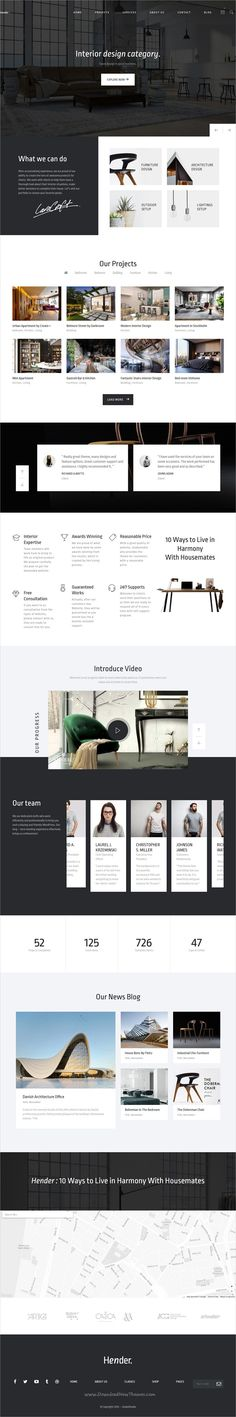 Hender is a clean and clear 6in1 responsive #WordPress Theme for #Architecture and Interior #Design Agency websites download now➩  https://themeforest.net/item/hender-architecture-and-interior-design-agency-wordpress-theme/18975710?ref=Datasata