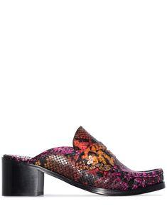 Sophia Webster x Patrick Cox Stevie 60 snake effect mules - PINK Sophia Webster, Loafers Men, Designer Shoes, Heeled Mules, Oxford Shoes, Dress Shoes, Women Wear, Slip On, Heels