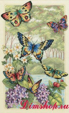Dimensions Shop. Набор для вышивания Dimensions 35223 Butterfly Forest (Лес бабочек)