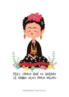 Woow me encantó esta ilustración... Frida Kahlo © Rocío González www.tizashechastrizas.com
