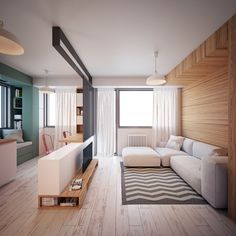 """30m2 Apartment by Proxy """"Small apartment in Skopje, Macedonia with only 35m2 space."""" Proxy is a multidisciplinary creative studio committed to developing contemporary, innovative and exceptional designs in the field of architecture, visualizations..."""