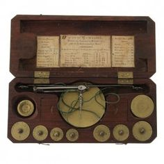 French Coin Balance Scale, 19th Century. French Coins, 19th Century, Scale, Auction, Antiques, Silver, Art, Crates, Weighing Scale