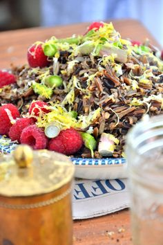 Asparagus n' Raspberry Black Rice Salad TheHealthyApple.com #glutenfree #recipe #healthy