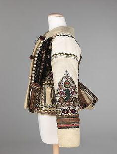 The intricate combination of materials and handwork techniques in this jacket make for a visually interesting garment. This level of decoration epitomizes the care and importance given to costume in traditional cultures Historical Costume, Historical Clothing, Costume Russe, Mega Fashion, Military Fashion, Military Style, Vintage Outfits, Vintage Fashion, Ethno Style
