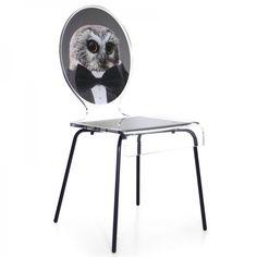 Une chaise design des plus originales avec une touche d'excentricité. La chaise hibou fera sensation dans votre salon