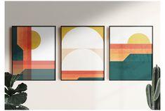 3 Piece Wall Art, Wall Art Sets, Wall Art Prints, Geometric Wall Art, Abstract Wall Art, Multiple Canvas Art, Triptych Wall Art, Mid Century Modern Art, Modern Wall Art
