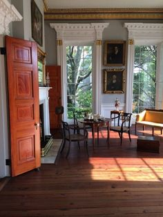 Morning Room, Nathaniel Russell House, 51 Meeting Street, Charleston, South Carolina, built 1809.