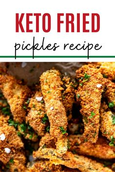 This low carb snack that you can make on the weekend for meal prep is PERFECT for my keto diet. I am so happy I found this Easy Keto Fried Pickles Recipe. Is is easy to make and SO full of flavor. #keto #kickingcarbs #lowcarb #dinner #healthy #airfryer #friedpickles #recipe