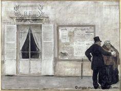 Jean-François Raffaëlli - Les invités attendant la noce, 1884