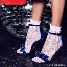 Pair flirty socks with party heels #ShopbopDare