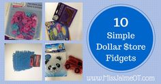 Fidgets can be a lifesaver in the classroom! Here are some budget friendly options from the Dollar Store. Sensory Tools, Sensory Activities, Therapy Activities, Fidget Tools, Diy Fidget Toys, Scissor Skills, Kids Boxing, Life Savers, Fine Motor Skills