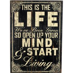 open up your mind (and heart) :: Start Life Wall Art from Joss and Main