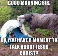 way to go horsey! Lol