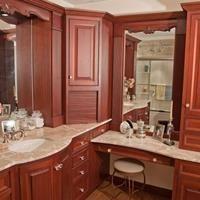 Gorgeous bathroom with built-in vanity. Ducci Kitchen & Bathroom > Showroom