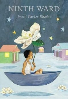 """""""Ninth Ward"""" by Jewell Parker Rhodes. In New Orleans' Ninth Ward, twelve-year-old Lanesha, who can see spirits, and her adopted grandmother have no choice but to stay and weather the storm as Hurricane Katrina bears down upon them. Middle School Books, Children's Literature, American Literature, Chapter Books, Historical Fiction, Great Books, Ya Books, So Little Time, Book Recommendations"""