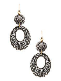 Lulu Frost Glass Roma Oval Drop Earrings