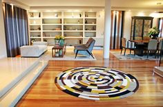 Private House 2 - Hall  Custom-made circular rug, Mambo Unlimited Ideas