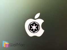 Star Wars Empire Symbol Glowing Backlit Apple Logo for MacBooks 2 Decals Stickers per Order by WallMac on Etsy