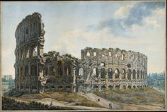 The Colosseum, Rome by Abraham-Louis-Rodolphe Ducros