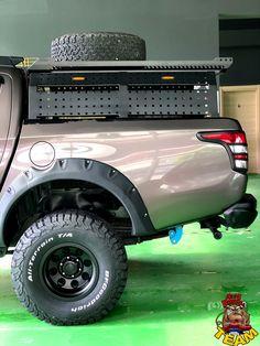 Mitsubishi Pickup, Subaru Baja, Truck Bed Storage, Off Road Camping, Overland Truck, Toyota Hilux, Truck Accessories, Pickup Trucks, Motorhome