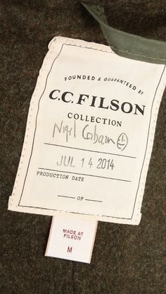The C.C. Filson by Nigel Cabourn collection is now live online. The two legendary outerwear brands have created a special line of jackets that combine both brands aesthetics.