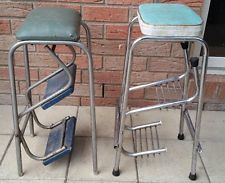 2 X Old Style Step Stools With Fold out Steps 1 Namco & Vintage Red White Cosco Mid Century Kitchen Step Stool Fold Out ... islam-shia.org