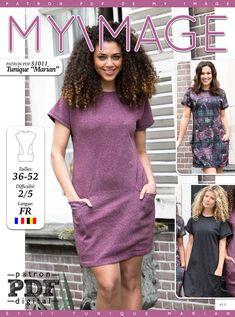 Tunique ou robe MARIAN Patron de Couture + Tutoriel - Patrons et tutoriels de couture chez Makerist