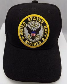 US Navy Retired Usn Military Vet Pow Patch Ball Cap by Heygidday