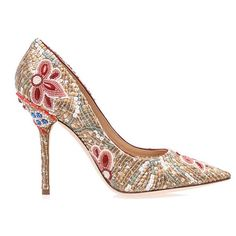 Dolce  Gabbana Belucci Beaded Pointed Tow Pumps ($1,600)   cynthia reccord