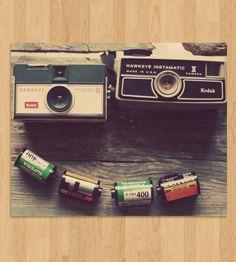 Hawkeye Vintage Camera Photo Art   Art Photography   Dull Blue Light   Scoutmob Shoppe   Product Detail