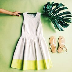 Swing into summer. Pair neon with neutrals for a tropical touch. #summerloves