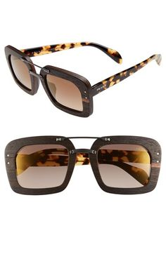 Prada 51mm Wood Sunglasses available at #Nordstrom