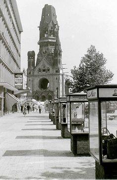 """ღღ The church was bombed in November 1943 and intentionally left as a ruin. A modern church now exists alongside (See photos in my set """"Berlin, 1962"""")."""