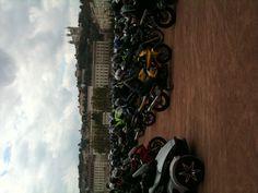 Bikers' strike at Bellecour in Lyon