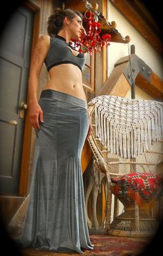 LARGE Ready To Wear Super Bootie Low Rise Mermaid by SnakeChurch, $120.00.... Hey ya'll check out the waist band on this skirt. and the top with the cut out is great too