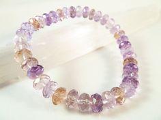 Ametrine Stretch Bracelet Faceted Rondelle by SandiLaneFineArt, $25.00.  I <3 ametrine!!