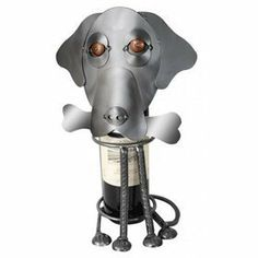 Labrador Dog Wine Caddy . $85.99. This cute Labrador dog shaped wine caddy is giving you that famous puppy dog look, how can you say no to that? The Labrador dog wine caddy is hand crafted of recycled steel and also features copper accents. If you know someone who loves Labrador dogs and enjoys there wine, this caddy will make a wonderful gift.