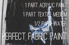 perfect fabric paint (like stamped curtains) by mindy.  let dry and then heat set w/iron   How To Make Fabric Paint