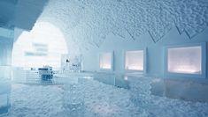 The Ice Hotel in Jukkasjärvi, Sweden.