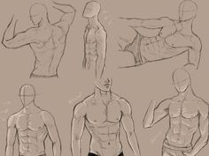 male anatomy practice by *KingMaria on deviantART