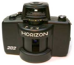 Horizon 202 Panoramic camera, these work ok if you are careful with it. Lever wind comes loose n so does the front lens element. Check it over every now n then so bits don't fall off (Fellow British Motorcyclists will understand this).
