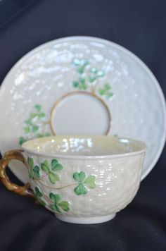 so pretty.  I have this cup and saucer, Belleek